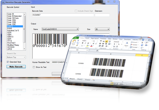 Click to view Aeromium Barcode Fonts screenshots