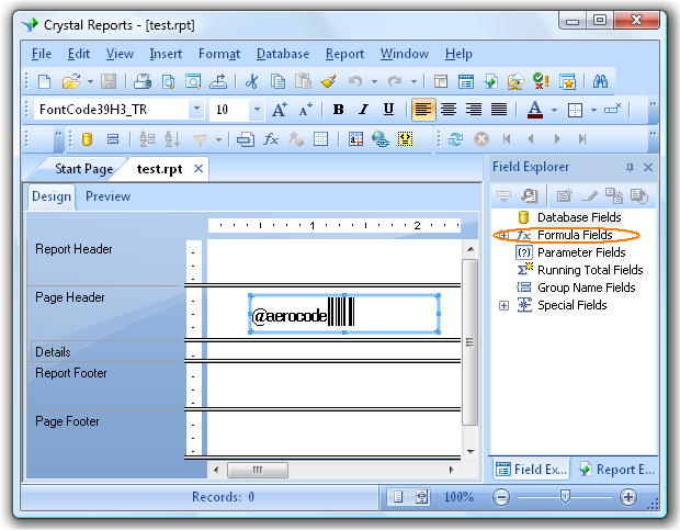 Crystal Reports barcode fonts tutorial